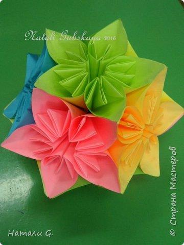 ВЕСЕННЯЯ  КУСУДАМА  или шарик-оригами фото 1