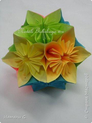 ВЕСЕННЯЯ  КУСУДАМА  или шарик-оригами фото 4