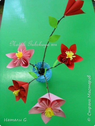 ЦВЕТЫ (оригами) фото 2