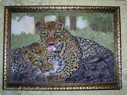 """""""Леопарды"""" Моя работа в технике папье-маше"""