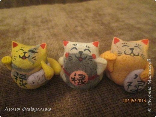 """Maneki Neko ( 招き猫 ) - буквально означает """"Приглашающий Кот"""", """"Зовущая Кошка"""", также известный как """"Кот Счастья"""", """"Денежный Кот"""" или """"Кот Удачи"""". Это распространённая японская скульптура, часто сделанная из фарфора или керамики, которая, как полагают, приносит её владельцу удачу.  фото 2"""