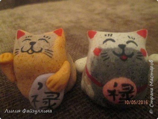 """Maneki Neko ( 招き猫 ) - буквально означает """"Приглашающий Кот"""", """"Зовущая Кошка"""", также известный как """"Кот Счастья"""", """"Денежный Кот"""" или """"Кот Удачи"""". Это распространённая японская скульптура, часто сделанная из фарфора или керамики, которая, как полагают, приносит её владельцу удачу.  фото 6"""