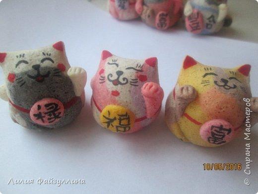 """Maneki Neko ( 招き猫 ) - буквально означает """"Приглашающий Кот"""", """"Зовущая Кошка"""", также известный как """"Кот Счастья"""", """"Денежный Кот"""" или """"Кот Удачи"""". Это распространённая японская скульптура, часто сделанная из фарфора или керамики, которая, как полагают, приносит её владельцу удачу.  фото 17"""