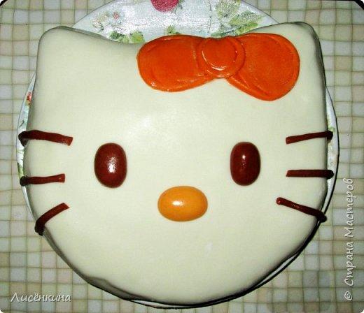 Здравствуйте дорогие мастера и мастерицы. Сегодня  моей дочке 2 месяца. И я решила испечь торт из мастики. Это мой дебют, все давно не решалась использовать мастику в украшении тортов. Так что это моя первая работа, отдаю её на ваш суд) фото 2