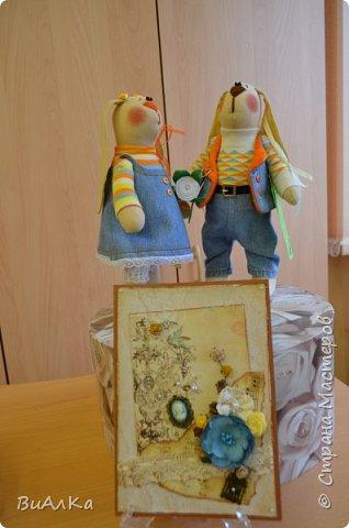 Вот таких зайцев к двадцатилетию свадьбы родителей я сшила за два дня!) фото 11