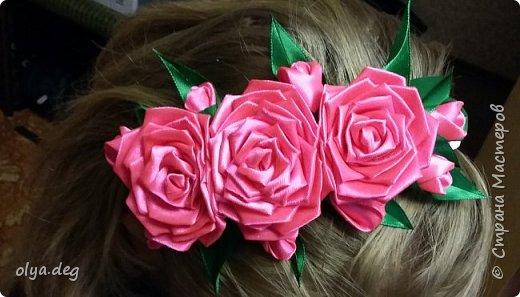 """Ободок на голову """"Розы"""""""