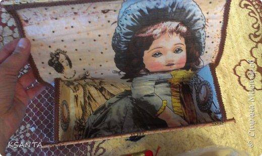"""Здравствуйте,жители страны!!! Я сегодня с хвастиком!!! Решила поучаствовать в игре """"Желаю получить в подарок..."""", организованной  Ольгой Гаспарян , за что ей большое спасибо!  А ещё огромное спасибо моей дарительнице - Олечке  иркутяночка  .  Оля,ты исполнила мою давнюю мечту - давно хотела шкатулочку из салфетки. Да всё руки не доходили, но подарки-то получать приятнее, правда же?!!!  Ну вот! А теперь - подарки!!! Это я увидела, когда открыла посылку. Стала доставать и поняла, что всё не так просто!  Набор открыт:  1.   dym8@mail.ru          -    срок исполнения   12.05 - 26.05 фото 7"""