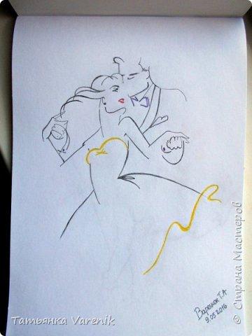 Одним росчерком карандаша...палитра чувств,эмоций и настроений...❤  Идеи зарисовок не мои.Срисовывала иллюстрации  разных талантливых илюстраторов=) фото 1