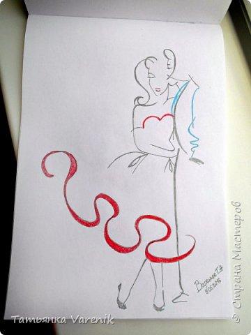 Одним росчерком карандаша...палитра чувств,эмоций и настроений...❤  Идеи зарисовок не мои.Срисовывала иллюстрации  разных талантливых илюстраторов=) фото 2