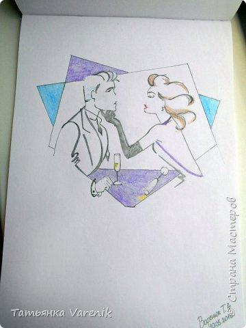 Одним росчерком карандаша...палитра чувств,эмоций и настроений...❤  Идеи зарисовок не мои.Срисовывала иллюстрации  разных талантливых илюстраторов=) фото 3