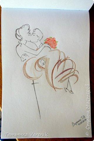 Одним росчерком карандаша...палитра чувств,эмоций и настроений...❤  Идеи зарисовок не мои.Срисовывала иллюстрации  разных талантливых илюстраторов=) фото 7