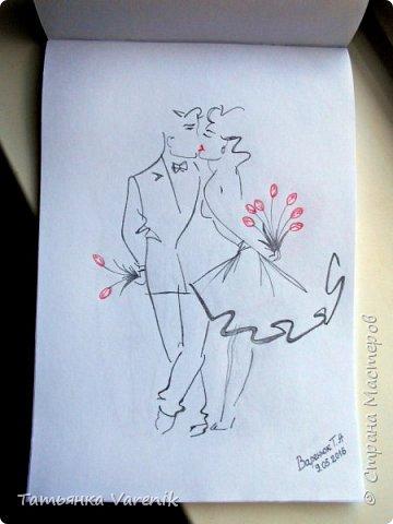 Одним росчерком карандаша...палитра чувств,эмоций и настроений...❤  Идеи зарисовок не мои.Срисовывала иллюстрации  разных талантливых илюстраторов=) фото 8