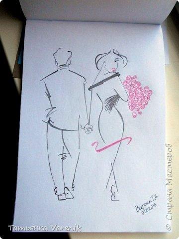 Одним росчерком карандаша...палитра чувств,эмоций и настроений...❤  Идеи зарисовок не мои.Срисовывала иллюстрации  разных талантливых илюстраторов=) фото 9