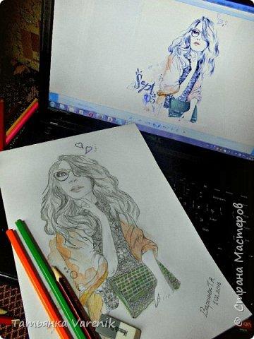 Одним росчерком карандаша...палитра чувств,эмоций и настроений...❤  Идеи зарисовок не мои.Срисовывала иллюстрации  разных талантливых илюстраторов=) фото 16