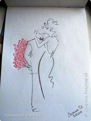 Одним росчерком карандаша...палитра чувств,эмоций и настроений...❤  Идеи зарисовок не мои.Срисовывала иллюстрации  разных талантливых илюстраторов=) фото 11