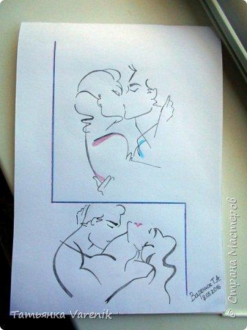 Одним росчерком карандаша...палитра чувств,эмоций и настроений...❤  Идеи зарисовок не мои.Срисовывала иллюстрации  разных талантливых илюстраторов=) фото 12