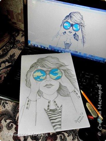 Одним росчерком карандаша...палитра чувств,эмоций и настроений...❤  Идеи зарисовок не мои.Срисовывала иллюстрации  разных талантливых илюстраторов=) фото 19