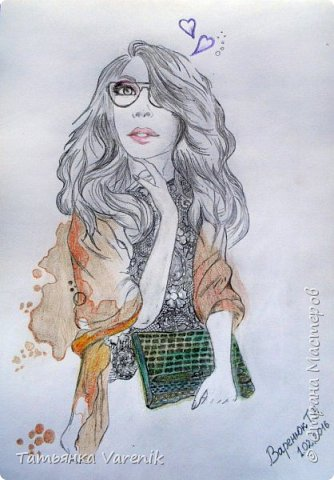 Одним росчерком карандаша...палитра чувств,эмоций и настроений...❤  Идеи зарисовок не мои.Срисовывала иллюстрации  разных талантливых илюстраторов=) фото 15