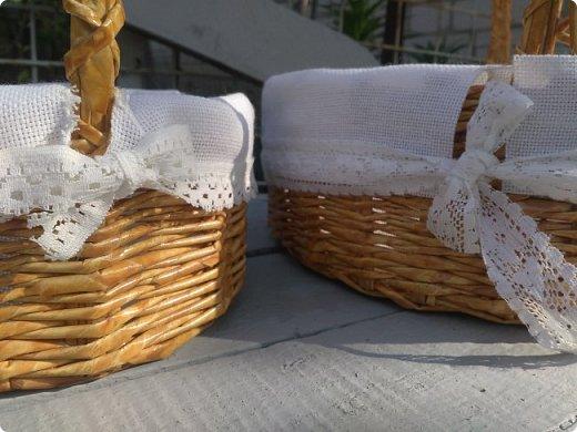 Вот такие корзиночки сплелись на заказ перед праздником Пасхи))))  фото 3