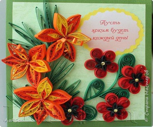 Первые гладиолусы и лён. Была просьба сделать оранжевые цветы. Показалось грустно одни гладиолусы и добавила цветов льна.  фото 1
