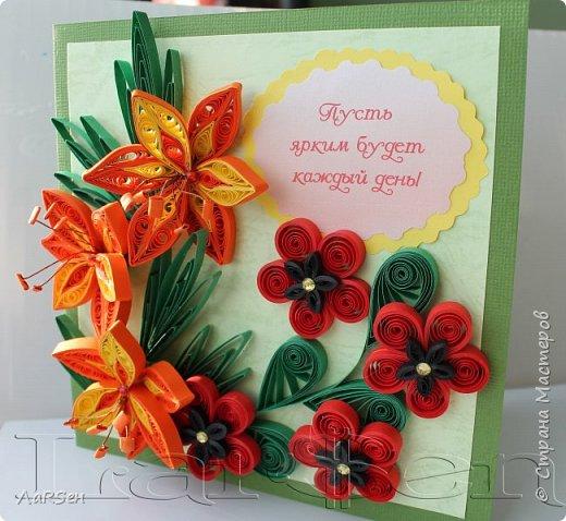 Первые гладиолусы и лён. Была просьба сделать оранжевые цветы. Показалось грустно одни гладиолусы и добавила цветов льна.  фото 4
