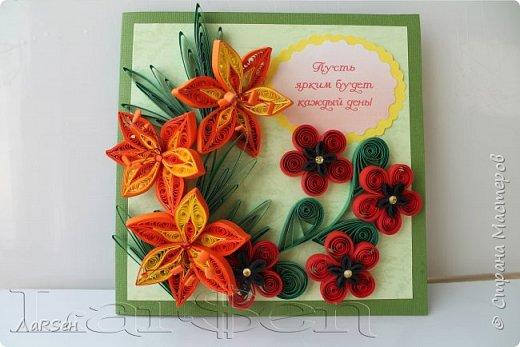 Первые гладиолусы и лён. Была просьба сделать оранжевые цветы. Показалось грустно одни гладиолусы и добавила цветов льна.  фото 5