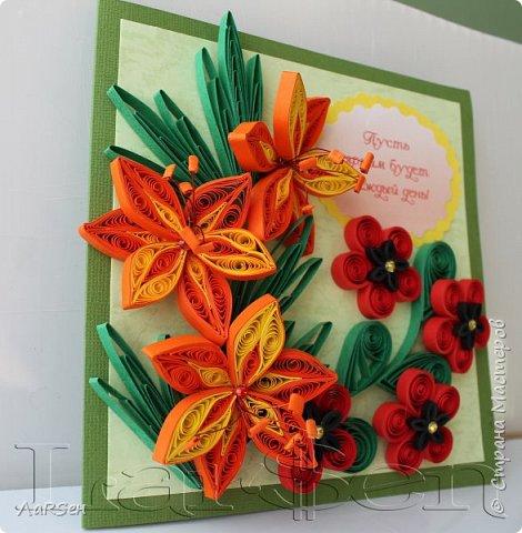Первые гладиолусы и лён. Была просьба сделать оранжевые цветы. Показалось грустно одни гладиолусы и добавила цветов льна.  фото 6