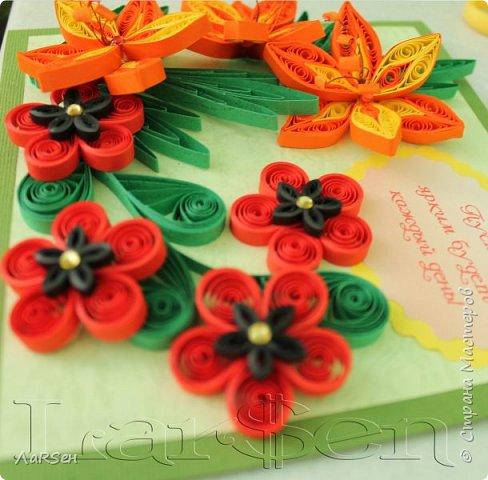 Первые гладиолусы и лён. Была просьба сделать оранжевые цветы. Показалось грустно одни гладиолусы и добавила цветов льна.  фото 7