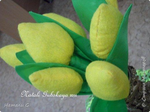 """Ваза """"Ностальгия"""" + текстильные тюльпаны фото 3"""