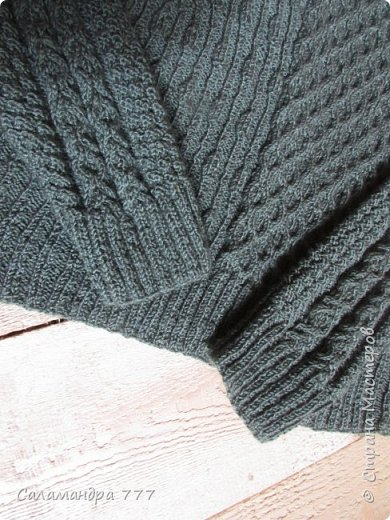 Всем-всем-всем -  добрый день!!! Принесла для Вас сегодня пуловер с модным многообразием узоров. Вязать его было сплошное удовольствие. Главное - не скучно! Различные узорчики не давали погрязнуть в однообразии.  фото 4