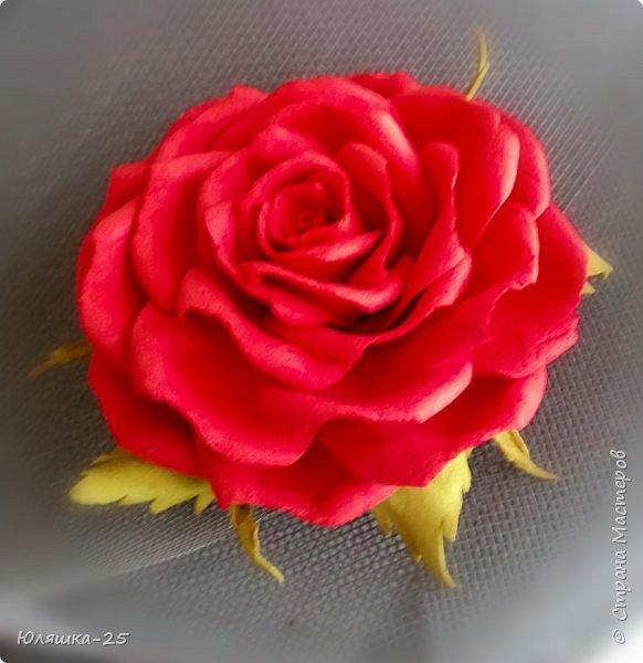 Представляю Вашему вниманию несколько своих последних работ.  Пионовидная роза сделана по МК замечательной мастерицы КатиСтеп  фото 8