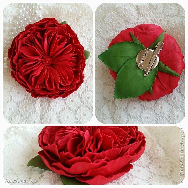 Представляю Вашему вниманию несколько своих последних работ.  Пионовидная роза сделана по МК замечательной мастерицы КатиСтеп  фото 1