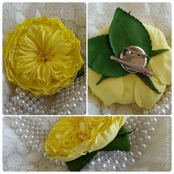 Представляю Вашему вниманию несколько своих последних работ.  Пионовидная роза сделана по МК замечательной мастерицы КатиСтеп  фото 3