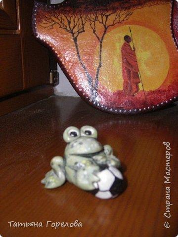 """Мои миниатюры из соленого теста """"Зверятки-футболятки"""", представленные на конкурс, посвященный проводимому в 2018 году в Нижнем Новгороде футбольному матчу. фото 6"""