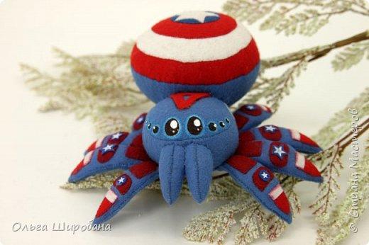 Доброго времени суток. Как я уже писала, начала серию пауков-супергероев.  Предлагаю посмотреть первую пару : Железный Человек  (Iron Man ) и Капитан Америка ( Captain America ) фото 6