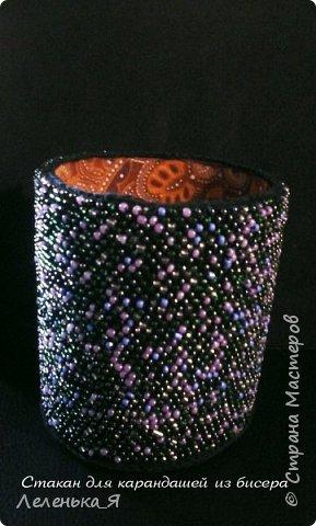Карандашница из бисера, ручной работы фото 2