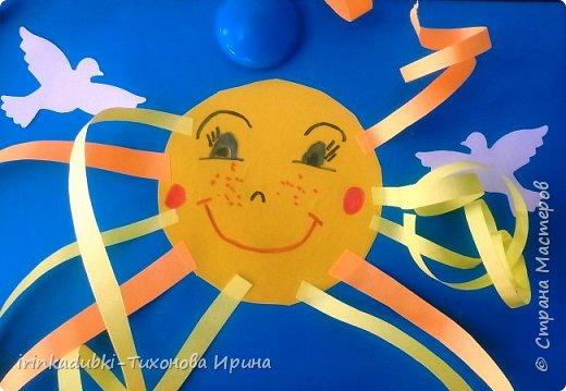 Вот такие замечательные солнышки получились у ребят.  фото 2