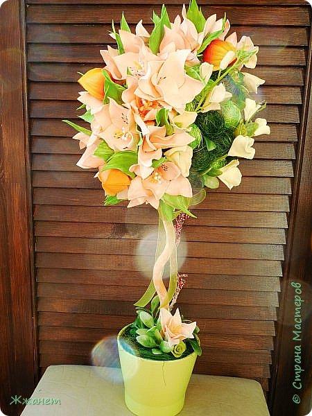Цветы из фома и холодного фарфора ручной работы. фото 2
