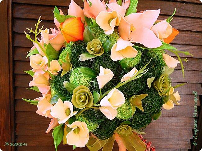 Цветы из фома и холодного фарфора ручной работы. фото 3
