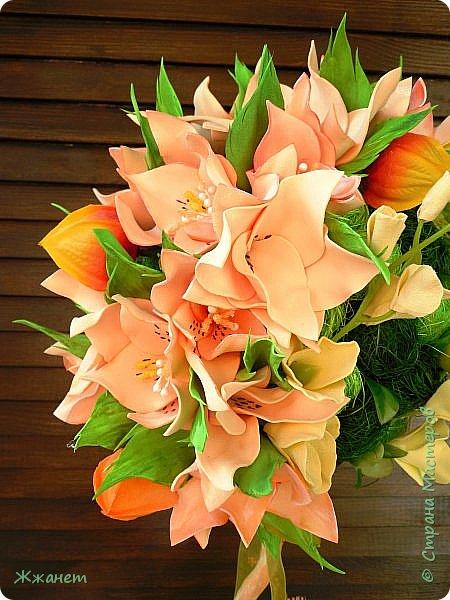 Цветы из фома и холодного фарфора ручной работы. фото 4