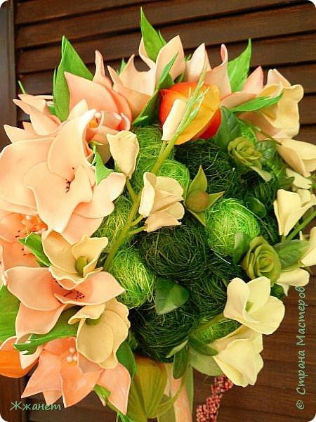 Цветы из фома и холодного фарфора ручной работы. фото 5