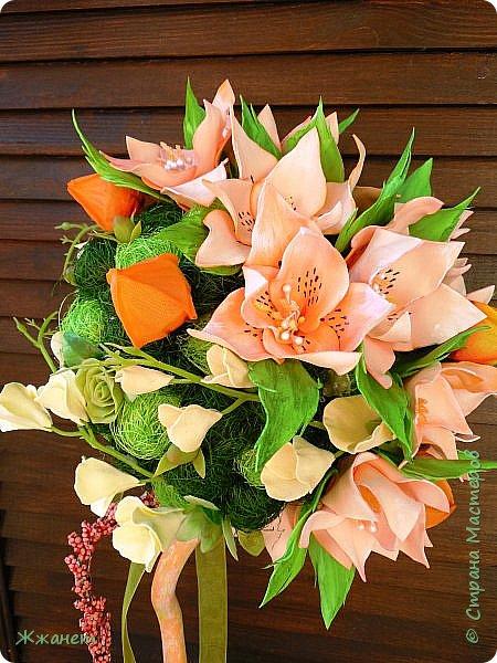 Цветы из фома и холодного фарфора ручной работы. фото 6