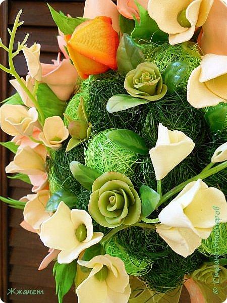Цветы из фома и холодного фарфора ручной работы. фото 7