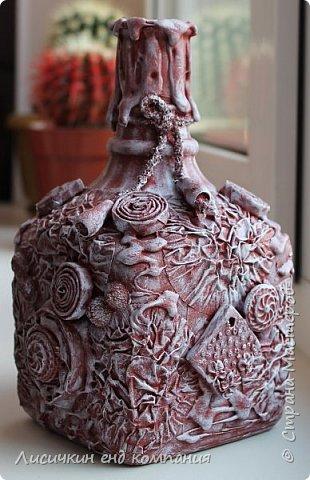 вазы из банок и бутылок фото 7