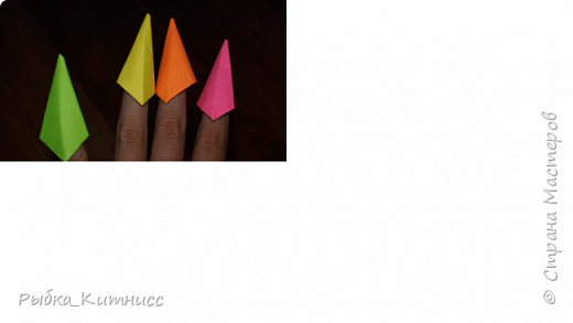 """Привет! Сегодня мы сделаем ещё один прикольный аксессуар. Накладные """"когти"""". Любители говорить """"не поленитесь указать автора"""" сегодня не смогут ничего сказать, потому что я сама придумала, как сложить это простое оригами. фото 5"""