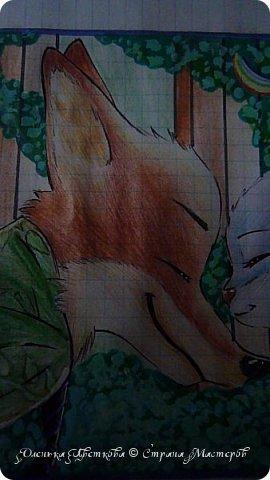 """Всем привет! Сегодня я сдаю работу на конкурс """"Зверополис""""(https://stranamasterov.ru/node/1022836?c=favorite). Я нарисовала главных героев - Ника и Джуди. Головы я разрисовывала поверх карандашей ручками, поэтому бумага там неровная, исправить не удается. Извиняюсь... фото 4"""