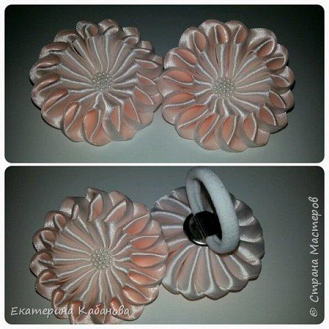 "Резинки ""Зефирки"" в персиково-белом цвете фото 1"
