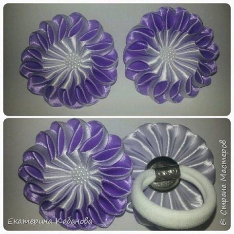 "Резинки ""Зефирки"" в персиково-белом цвете фото 2"