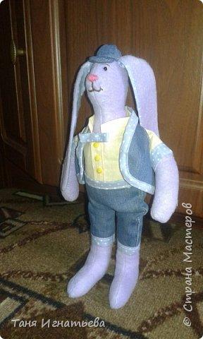 Вот такого зайчишку я подарила маме на пасху в этом году вместо яиц... фото 1