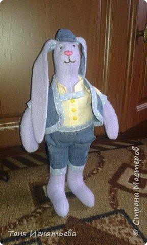 Вот такого зайчишку я подарила маме на пасху в этом году вместо яиц... фото 2